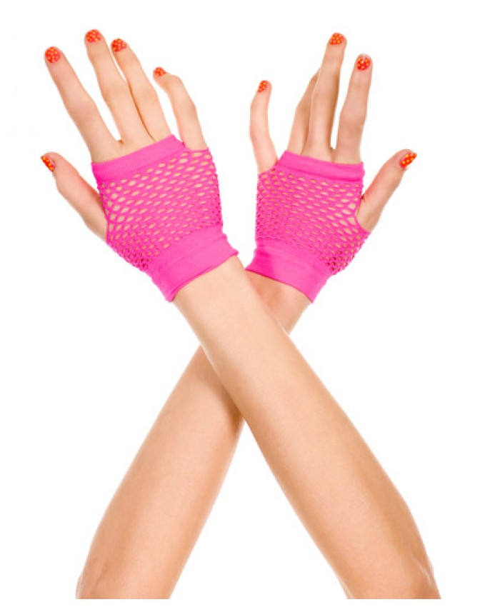 Music Legs Thick Mini Diamond Net Gloves Various Colours Available