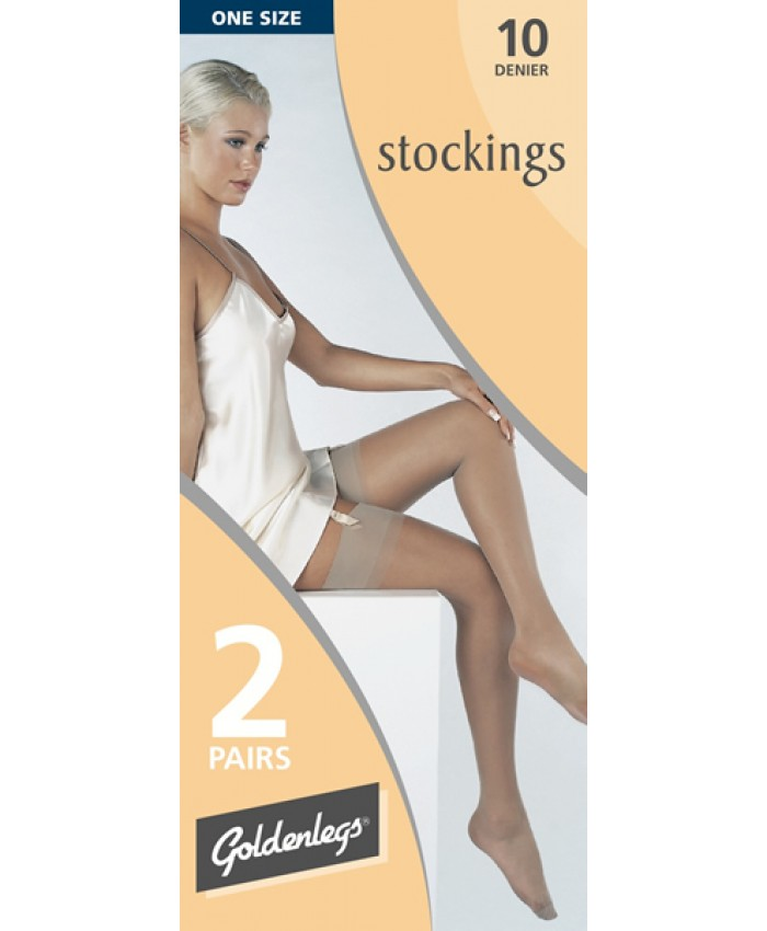 Goldenlegs 10 Denier Stockings (2 pair pack)