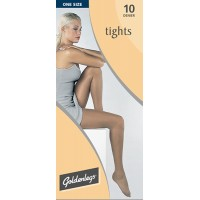 "Goldenlegs One Size 10 Denier Tights  (upto 42""hip/107cms)"