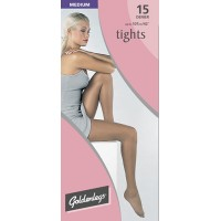 "Goldenlegs Medium 15 Denier Tights (upto 42""hip/107cms)"