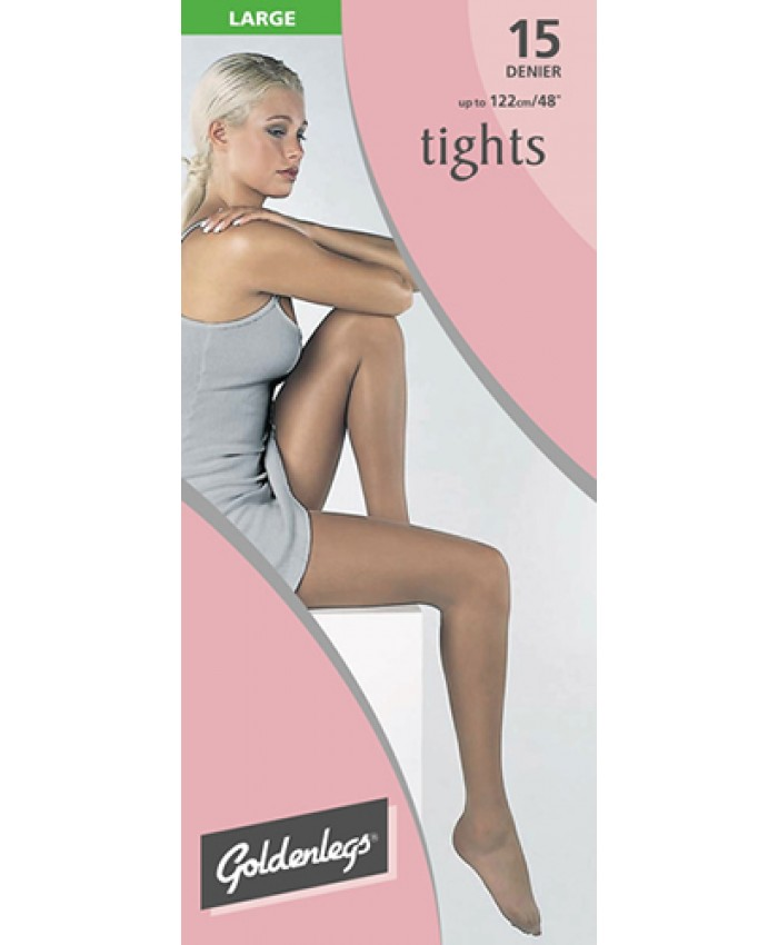 "Goldenlegs Large 15 Denier Tights (upto 48""hip/122cms)"