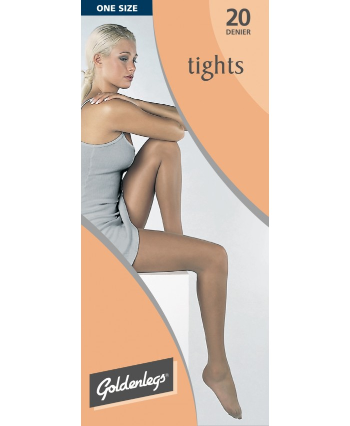 "Goldenlegs One Size 20 Denier Tights  (upto 42""hip/107cms)"
