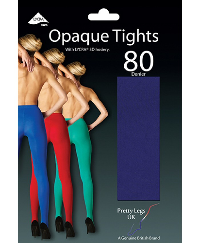 Pretty Legs 80 Denier 3D Opaque Tights VARIOUS COLOURS