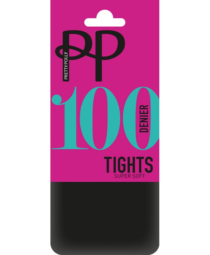 Pretty Polly 100 Denier Super Soft Opaque Tights in Black
