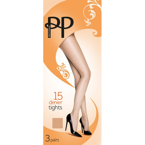 Pretty Polly 15 Denier Everyday Tights (3 Pair Pack)