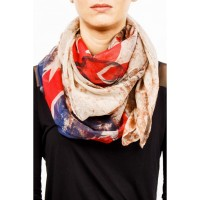 Womens Scarf Union Jack with Skulls