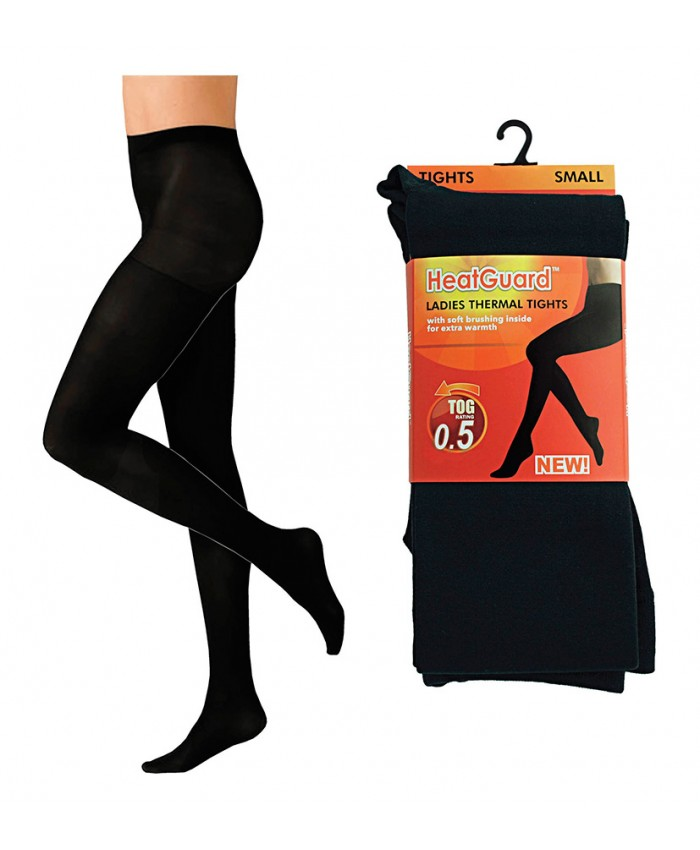 Ladies Thermal Tights with Fleece Lining  - Available in Black