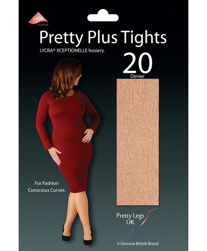 Pretty Legs Plus Size 20 Denier LYCRA XCEPTIONELLE Tights