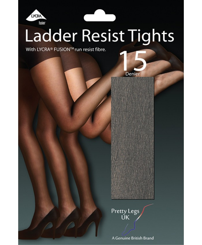 Pretty Legs 15 Denier Luxury LYCRA FUSION Run Resist Sheer Tights (CLEARANCE)