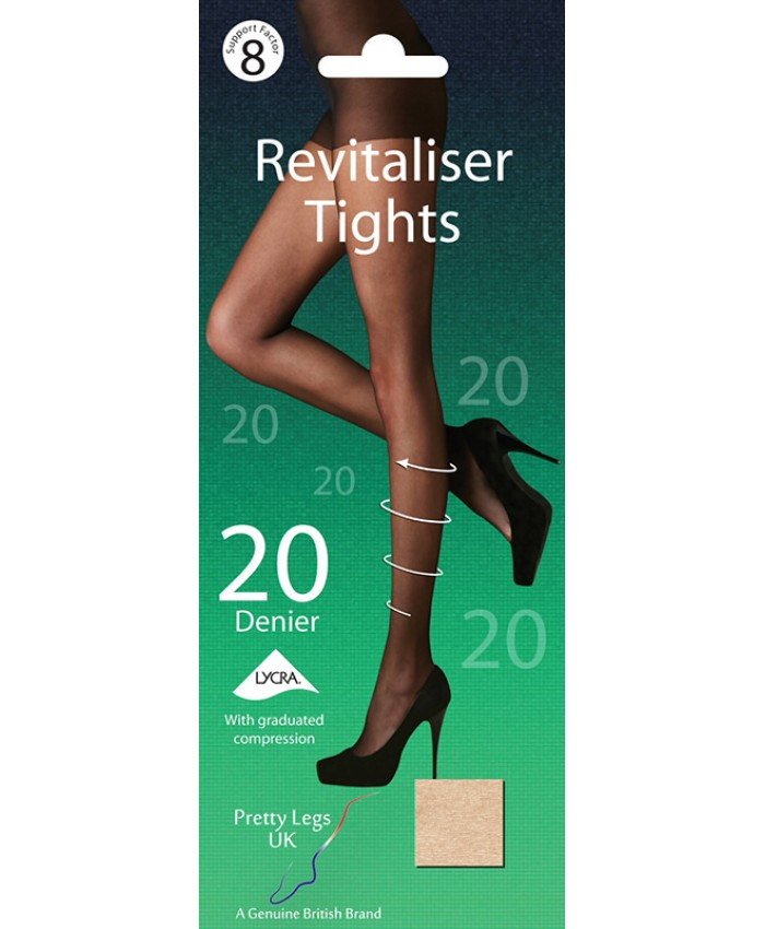 Pretty Legs 20 Denier Revitaliser Tights with Medium Compression  FACTOR 8 SUPPORT
