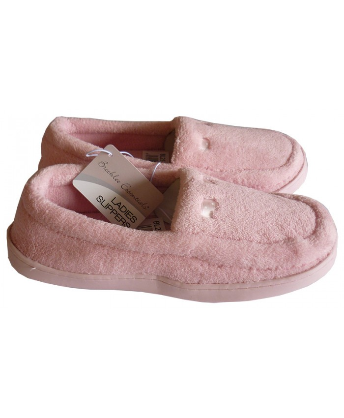 Ladies Bucket Slippers available in Silver Grey & Pink