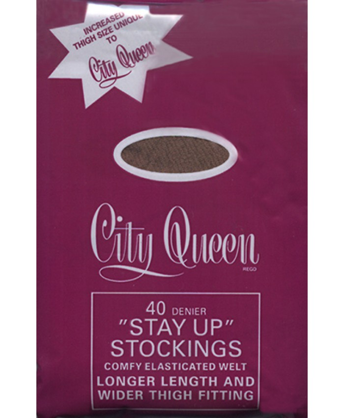 City Queen 40 Denier Hold Ups - Extra Large