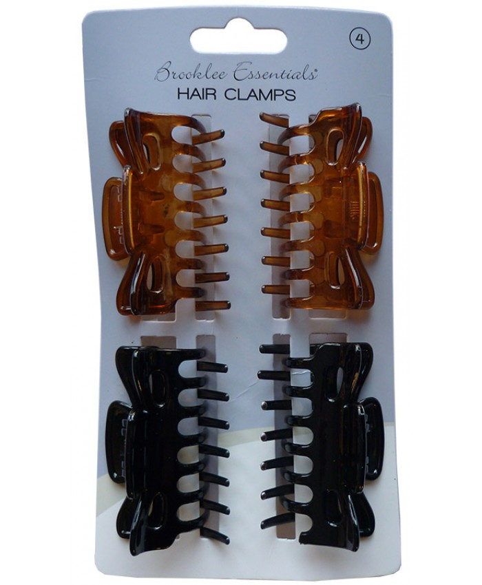 4 pack Medium Hair Clamps (Sold in 6's)