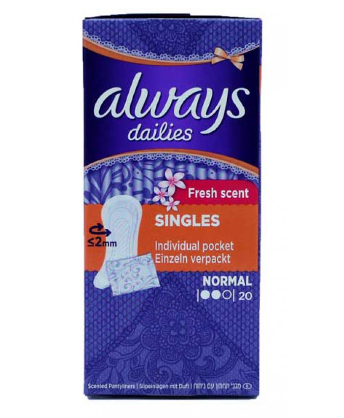 Always Dailies Panty Liners Scented 20's (CLEARANCE)