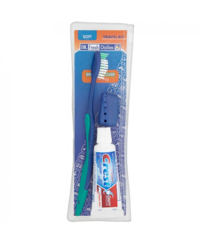 Dr Fresh Dailies Toothbrush & Paste Travel Kit