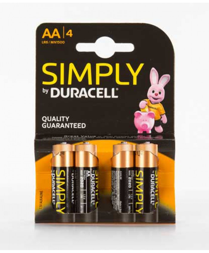 Duracell Batteries AA 4 Pack