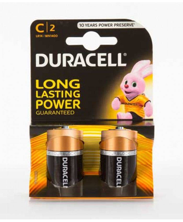 Duracell Batteries C 2 Pack (CLEARANCE)