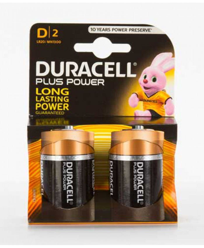 Duracell Batteries D 2 Pack (CLEARANCE)