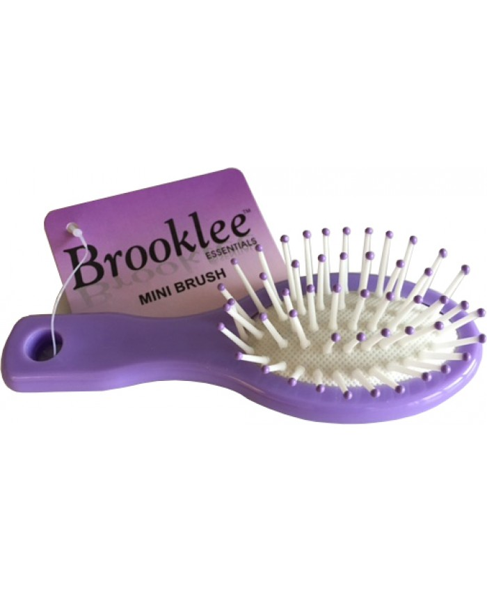 Rubber Cushioned Mini Brush - Handbag Size (Sold in 20's)
