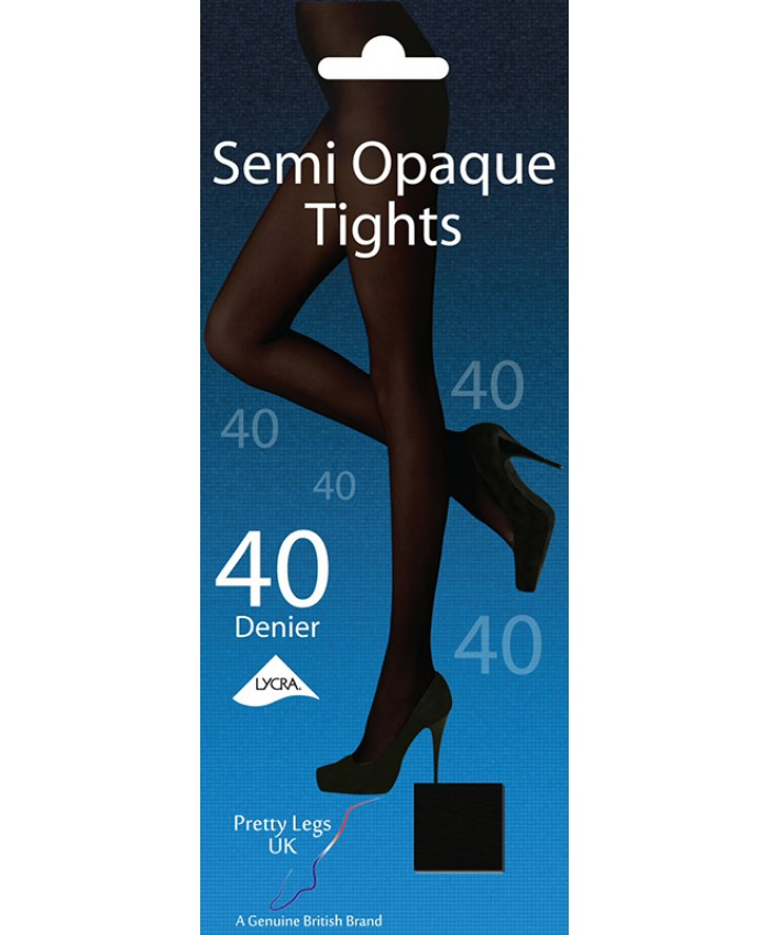 Pretty Legs 40 Denier Semi Opaque Tights with LYCRA