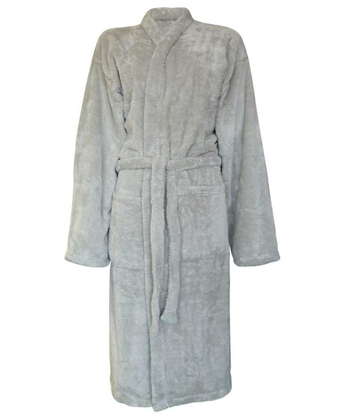 Supersoft Fleece Robe SILVER GREY