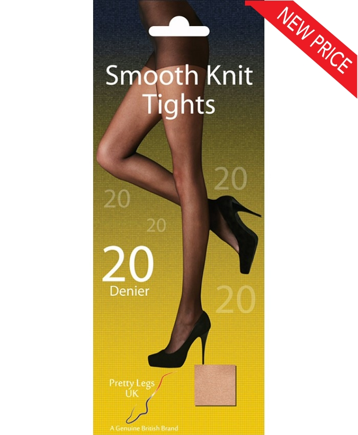 162b662097e Pretty Legs Plus Size XL 20 Denier Smooth Knit Tights